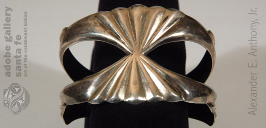 Alternate View of this Navajo-made Silver Bracelet.