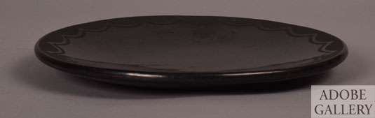 Alternate side view of this black-ware plate by Maria.