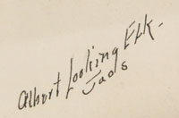Artist Signature - Albert Martinez (c. 1888 – November 30, 1940) Albert Looking Elk