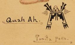 Artist Signature - Tonita Vigil Peña (1893-1949) Quah Ah