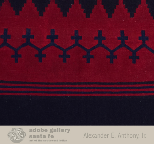 Close up view of this Navajo textile - dress