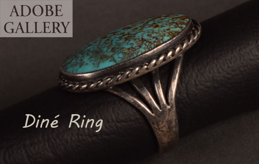 Alternate side view of this Turquoise Ring.