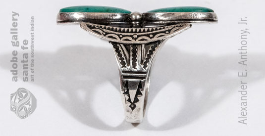 Alternate View of the side stamp work of this ring.