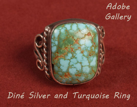 Alternate view of this Navajo-made ring.