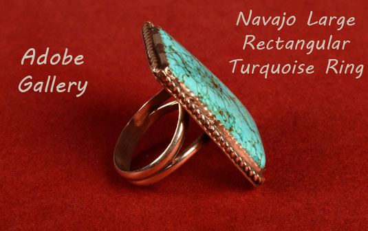 Alternate side view of this Navajo-made ring.