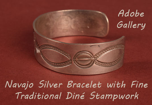 Alternate side view of this silver cuff.