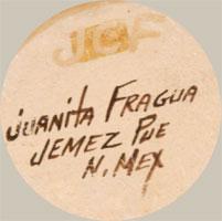 Juanita Fragua (1935- ) signature