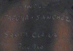 Linda Tafoya-Sanchez (1962 - ) signature