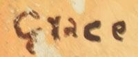 Artist Signature - Grace Chapella (1874-1980) White Squash Blossom
