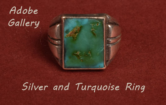 Alternate view of this Silver and Turquoise Ring
