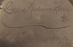 Artists' Signatures - Grace Medicine Flower - Camilio Tafoya – Father and Daughter team - Santa Clara Pueblo