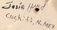 Josephine Hand (1932 – 2013) signature
