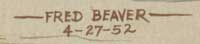 Fred Beaver (1911-1980) signature