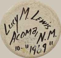 Lucy Martin Lewis (c.1898-1992) signature