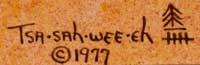 Artist Signature and date - Helen Hardin (1943-1984) Tsa-Sah-Wee-Eh - Little Standing Spruce