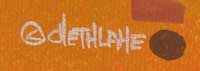 David Chethlahe Paladin (1926-1984) signature