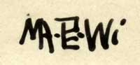 "Artist Signature - Velino Shije Herrera (1902-1973) Ma Pe Wi (Oriole) Zia Pueblo 12-1/2"" by 17-7/8"" image; 15-1/4"" x 20-3/4"" framed Medium: watercolor Source: Geri Wiener"