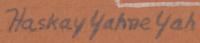 Artist Signature - Harrison Begay (1917-2012) Haashké Ya Níyá-The Wandering Boy