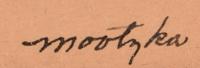 Waldo Mootzka (1910-1940) signature