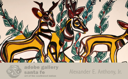 Close up view of 2 of the antelope.