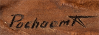 Artist Signature - Kevin Pochoema (1965- ) Greasewood Clan