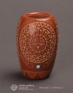 Alternate view of this miniature jar.