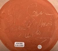 Artist Signature - Crucita Gonzales Calabaza Blue Corn, San Ildefonso Pueblo