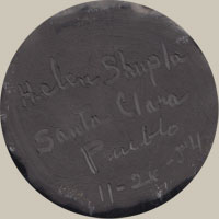 Artist Signature - Helen Shupla, Santa Clara Pueblo