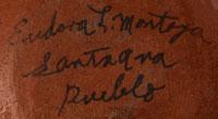 Artist Signature - Eudora Montoya, Santa Ana Pueblo Potter