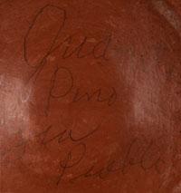 Artist Signature - Juana Lupita Toribio Pino Ts'iyasgits'a, Zia Pueblo Potter