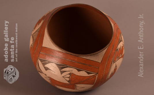 Alternate View of this Zia Pueblo Pottery Storage Jar.