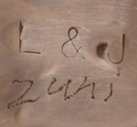 Artist Signature - Lloyd and Jennie Salvador, Zuni Pueblo