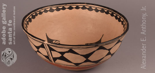 Alternate side view of this Pueblo Pottery Bowl.