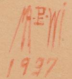 Artist Signature and date (1937) - Velino Shije Herrera (1902-1973) Ma Pe Wi - Oriole