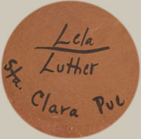 Artists' Signatures - Lela and Luther Gutierrez, Santa Clara Pueblo