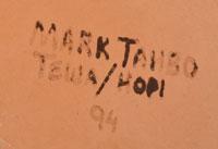 artist signature - Mark Tahbo, Hopi - Tewa Potter