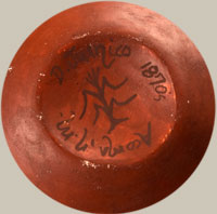 Artist Signature - Delores Juanico, Acoma Pueblo Potter
