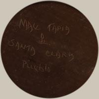 ARtist Signature - Mae Tapia, Santa Clara Pueblo Potter