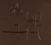 Artist Signature - Nathan Youngblood Deer Path, Santa Clara Pueblo Potter