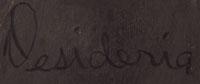 Artist Signature - Desideria Montoya Sanchez, San Ildefonso Pueblo Potter