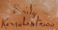 Artist Signature - Emily Komalestewa, Hopi Potter