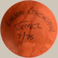 Artist Signature - Laura Gachupin, Jemez Pueblo Potter