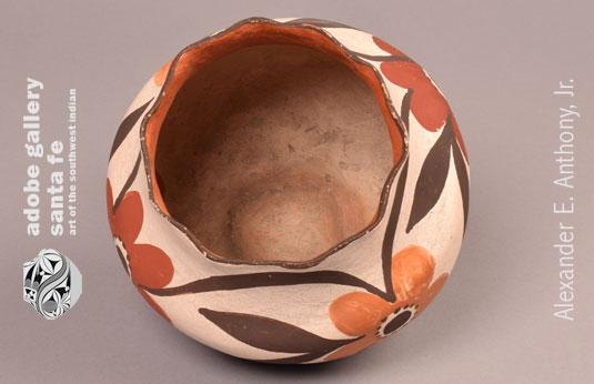 Alternate top view of this Laguna Pueblo Historic pottery jar.