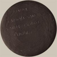 Artist Signature - Linda Tafoya-Sanchez, Santa Clara Pueblo Potter