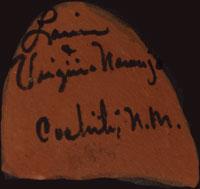 Artist Signatures - Louis and Virginia Naranjo, Cochiti Pueblo Potters