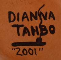 Artist Signature - Dianna Tahbo, Hopi-Tewa Potter