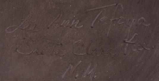 Artist Signature - LuAnn Tafoya, Santa Clara Pueblo Potter