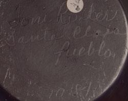Artist Signature - Toni Roller, Santa Clara Pueblo Potter