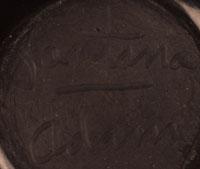 Artist's signatures - Santana and Adam Martinez, San Ildefonso Pueblo Potters