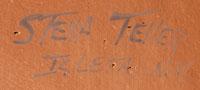 ARtist Signature - Stella J. Teller, Isleta Pueblo Potter